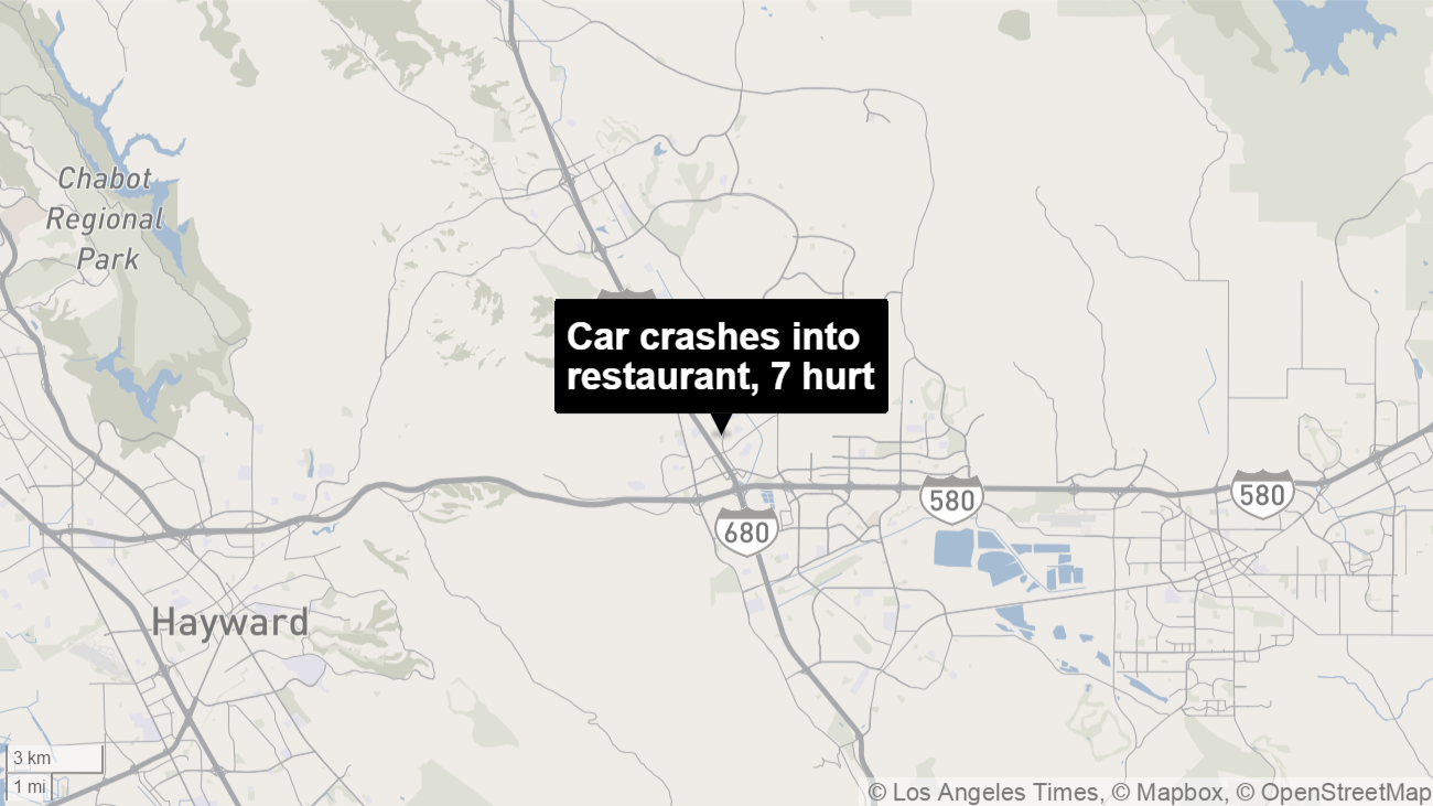 Seven injured when car hits Mexican restaurant in Northern California