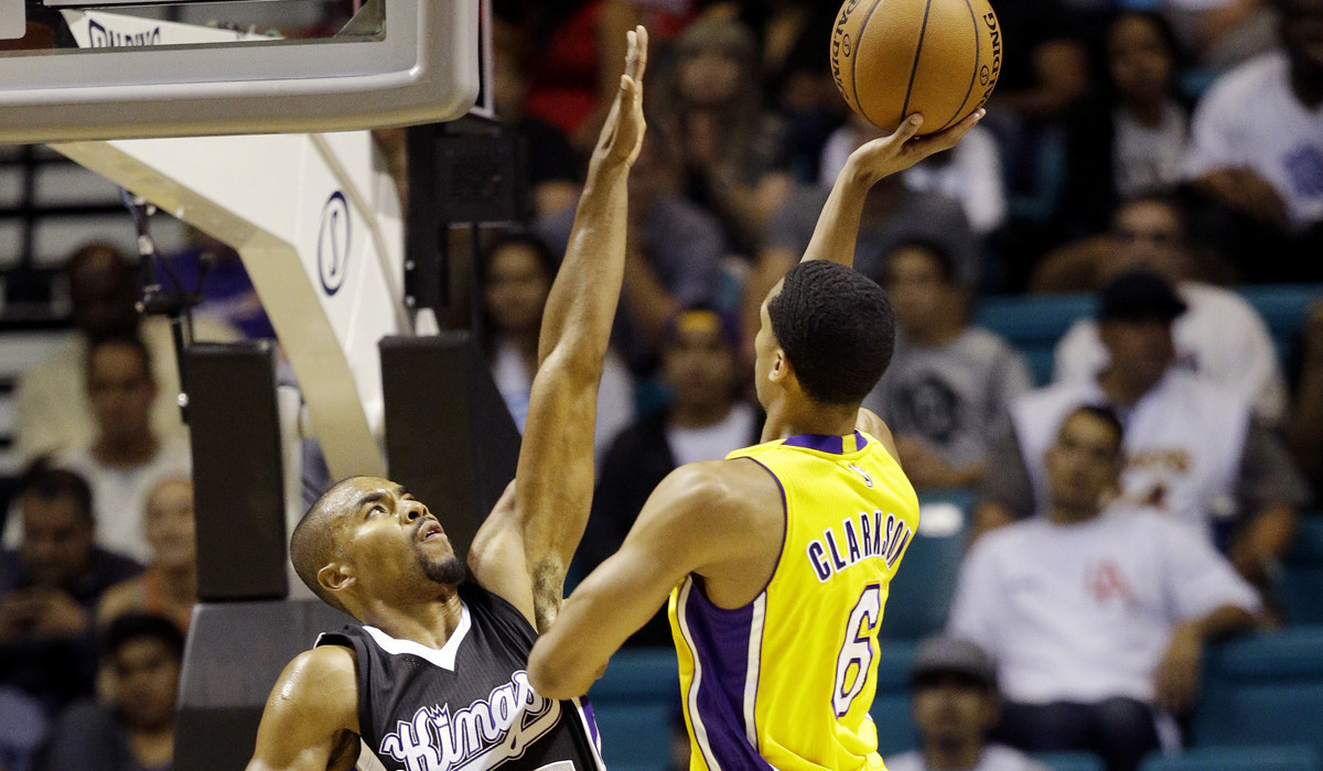 Lakers stay upbeat in spite of loss in final preseason game