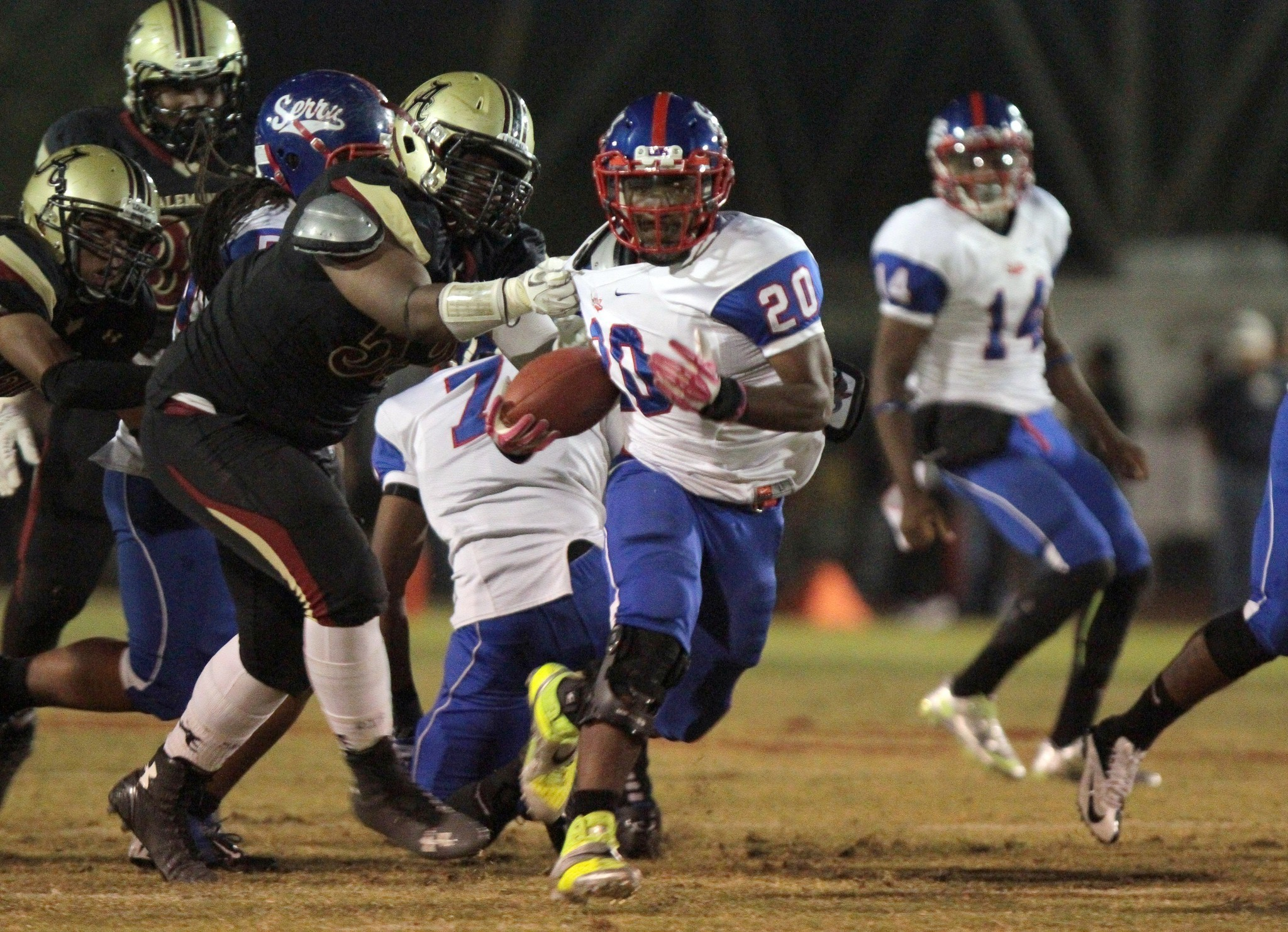 Backups step up to lead Gardena Serra to 38-21 victory over Alemany