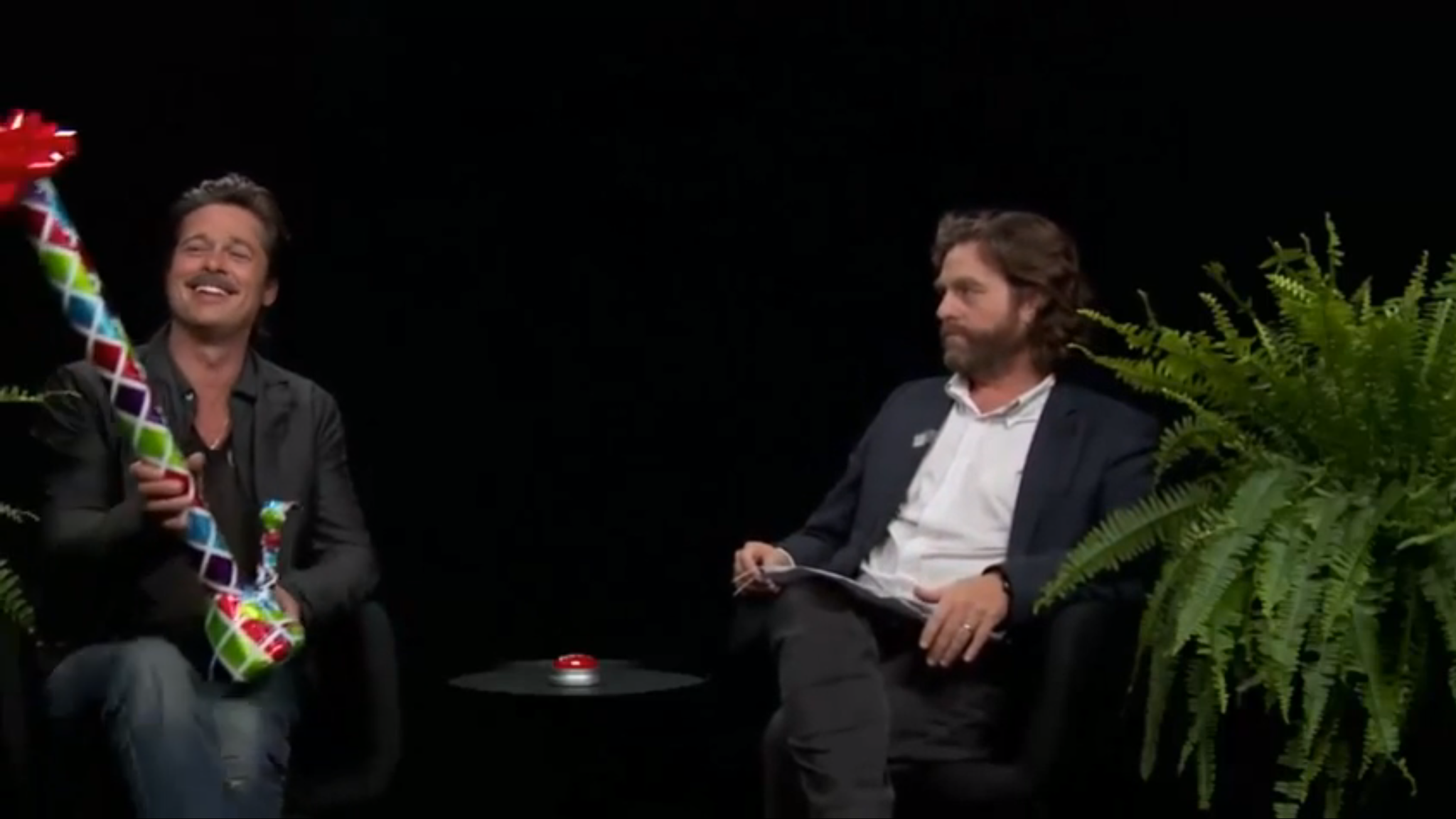 brad pitt on between two ferns with zach galifianakis