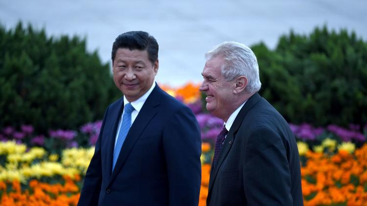 Xi Jinping, Milos Zeman