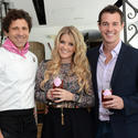Giovanni Rocchio, Executive Chef and owner of Valentino Cucina Italiana, with Pandora Vanderpump and husband, Jason Sabo