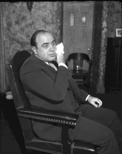 Al Capone in October of 1931.