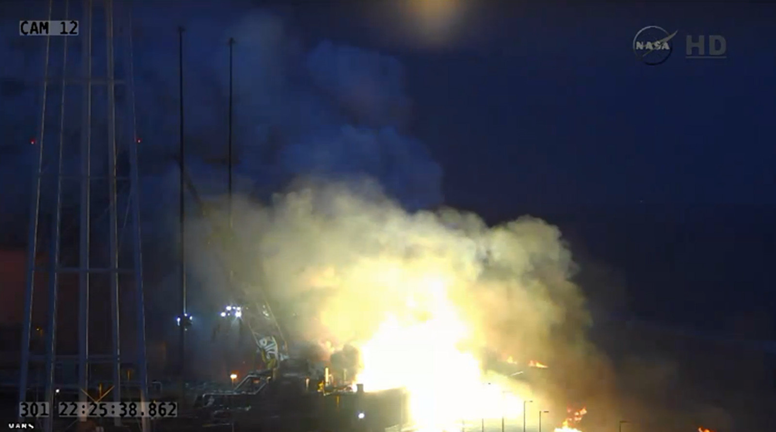 Unmanned Antares rocket explodes after lift-off from ...