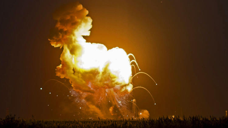 Antares rocket explodes after launch