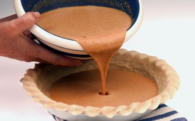 Bruleed pumpkin pie