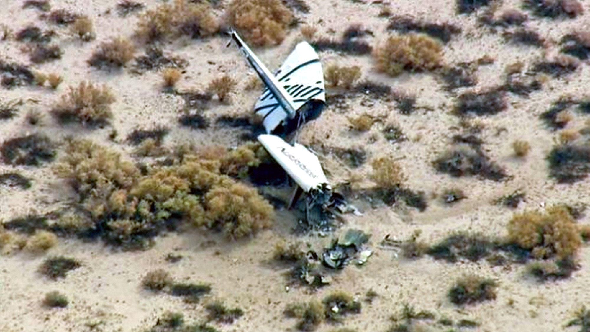 'Tough day' for space travel as Virgin Galactic's spaceship crashes