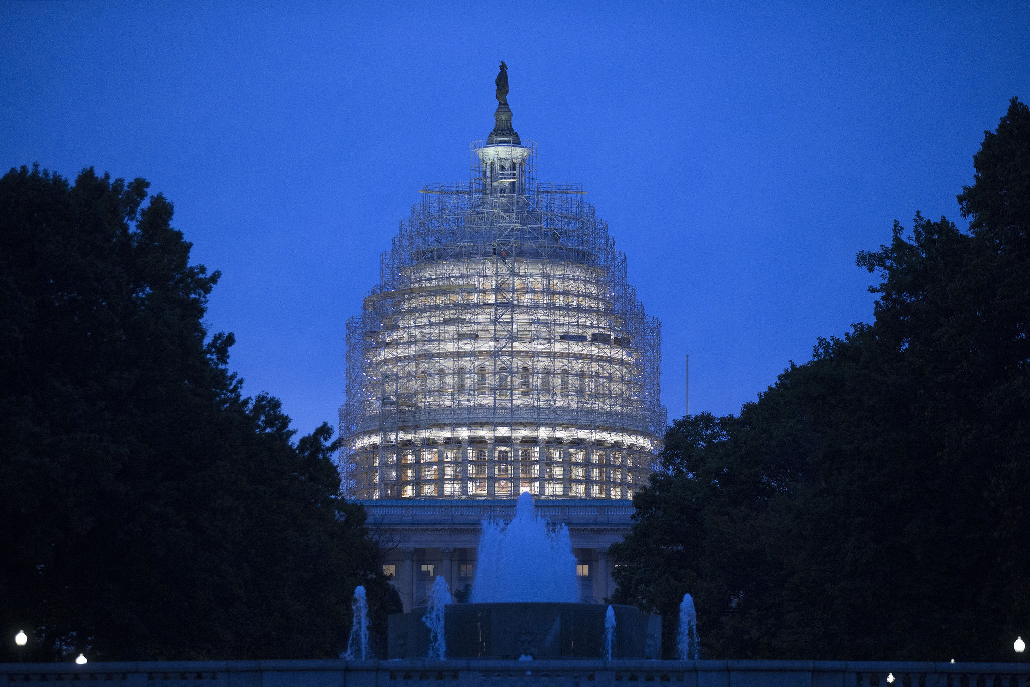 Capitol Building Scaffolding : The voters have spoken more dysfunction and gridlock