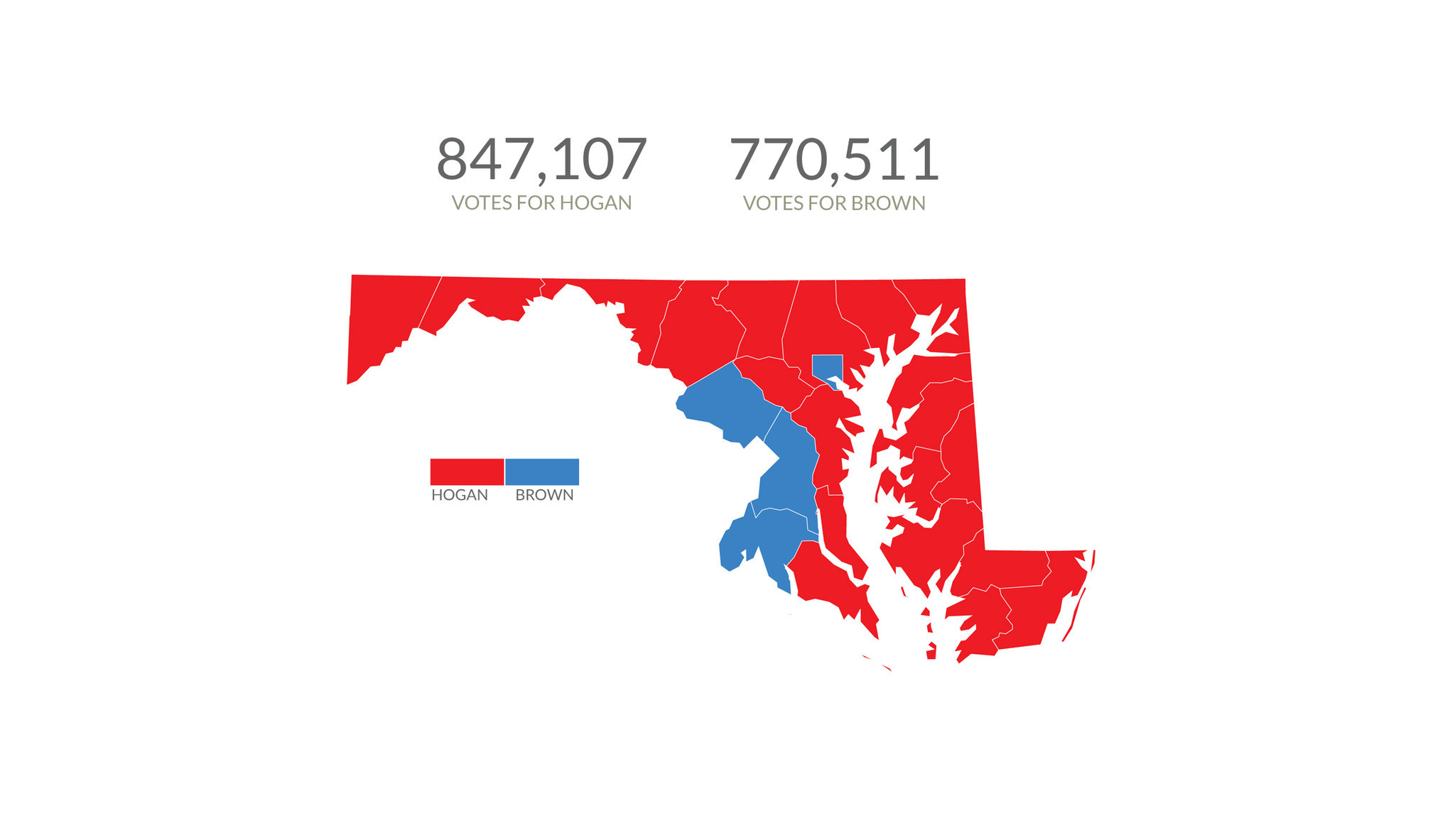 How Did Maryland Vote For Governor Baltimore Sun - Maryland county map