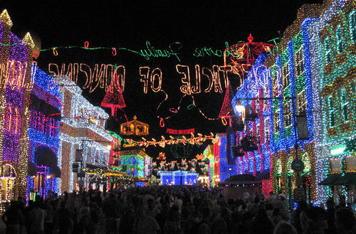 The Osborne Family Spectacle of Dancing Lights-Hollywood Studios: Nov. 7, 2014-Jan. 4, 2015 on the Streets of America at Disney's Hollywood Studios theme park is a massive seasonal display featuring millions of holiday lights perfectly synchronized to music.