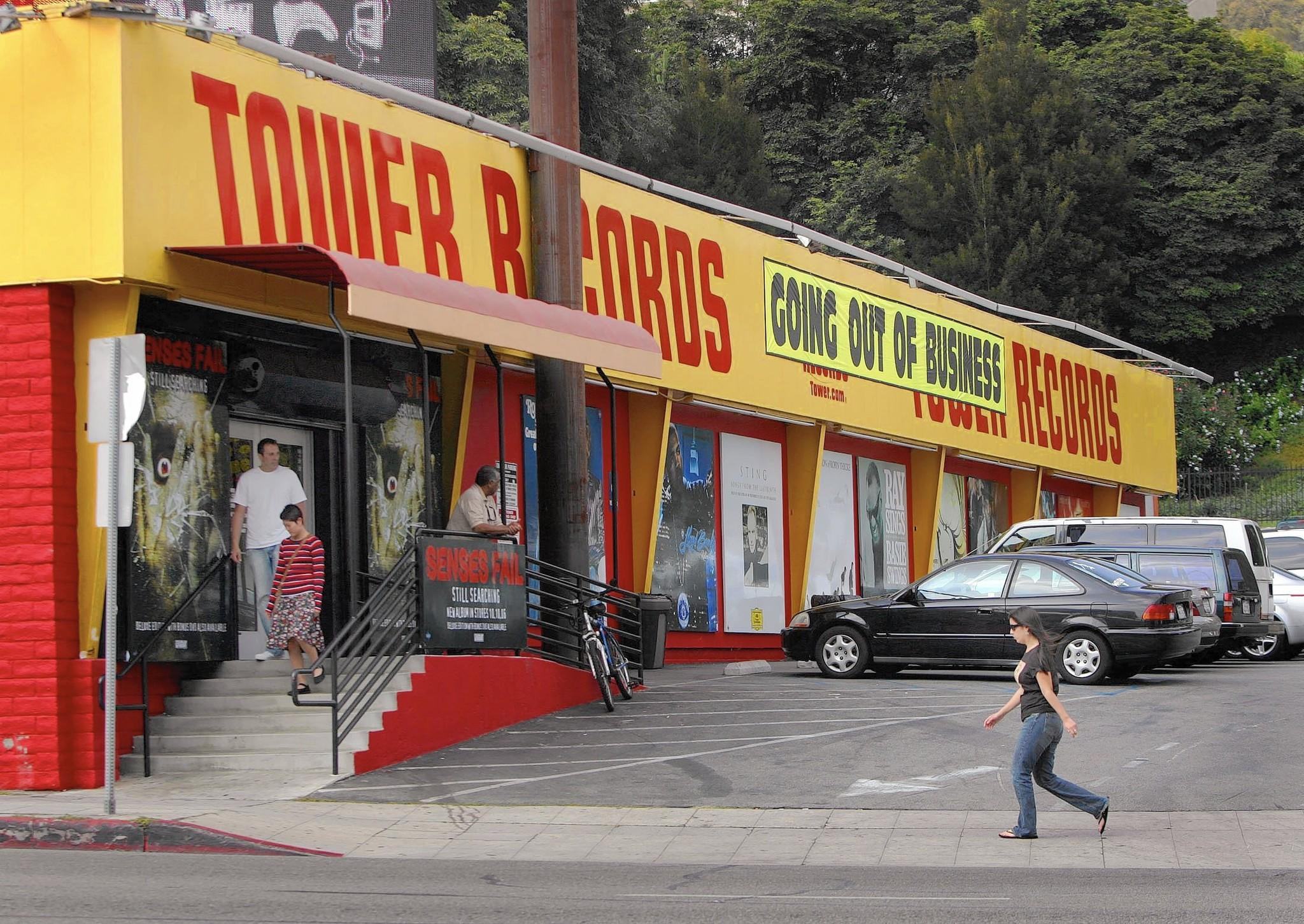 Tower Records in West Hollywood closed in 2006. (Richard Hartog / Los Angeles Times)