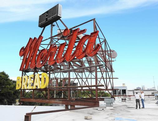 The Merita Bread sign is coming down at the former bread plant on I-4 near downtown Orlando. It will be preserved by the Morse Museum of American Art in Winter Park. November 12, 2014 .