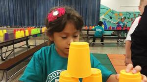 Cooper City kids try to set record for stacking cups