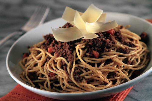 Cafe Pierre's Spaghetti Bolognese