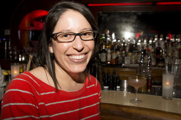 """Sonia Amata, 31, nursing student<Br><br> <b>What brought you here tonight? Are you a regular here?</b> No, this is only my second time here, even though I live around the corner. I brought my friend, Leah, with me because I thought she'd enjoy the cocktails.<br> <b>So what are you drinking and why?</b> Actually, I have no idea what it is because, Anthony, the bartender made me a custom cocktail. He asked me what I normally drink and this is what he came up with.<br> <b>What do you normally drink?</b> I told him I like vodka tonic with lots of lemon and he said """"Got it"""" and walked away. And I got an amazing drink!<br> <b>OK, so you're you not a regular here, but were you here before the remodeling and new management?</b> <b>Did you see the before and after?</b> No, but I had heard about it through friends, and read about it on the Internet.<Br> <b>So what do you think of the place as it is now?</b> I like it. It's kind of chill and not too loud. We came here after dinner to continue our conversation, and it's good. You can actually have a conversation in here."""