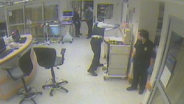 Surveillance video: Highland Park Hospital fatal police shooting