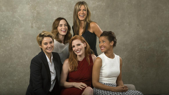 The Envelope talks with five actresses who are in the running for an Oscar: From left,Shailene Woodley, Emily Blunt, Jessica Chastain, Jennifer Aniston and Gugu Mbatha-Raw.