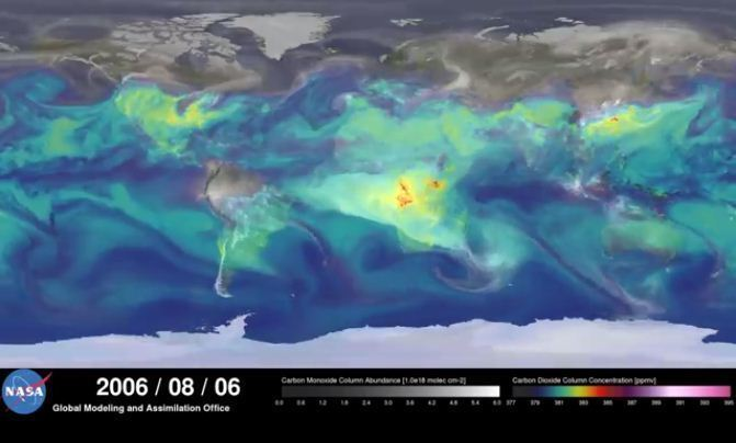 Best (and trippiest) look yet at how carbon dioxide swirls around Earth