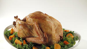 Dry-brined turkey with sage and bay salt