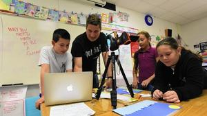 Lights, cameras and lots of action at Boca school