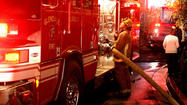 Photo Gallery: Chimney fire on the narrow street of Palmer Ave. in Glendale