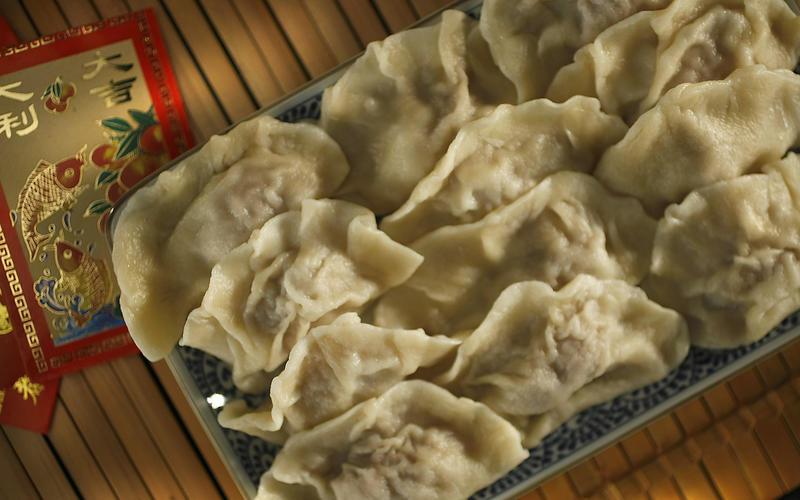 Lao Yi's boiled beef and leek dumplings