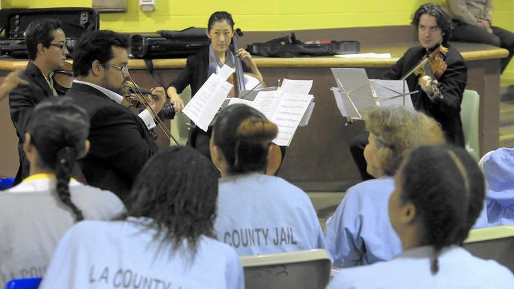 Musicians perform for inmates