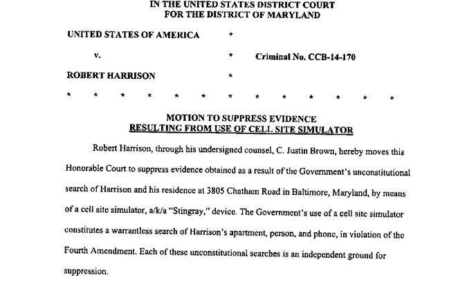 defense motion to suppress stingray evidence in md case baltimore sun. Black Bedroom Furniture Sets. Home Design Ideas