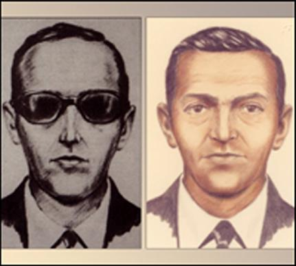 <p><b>Nov. 24, 1971</b> </p> <p>Hijacker D.B. Cooper parachuted from a Northwest Airlines 727 over Washington state with $200,000 in ransom; his fate remains unknown.</p>