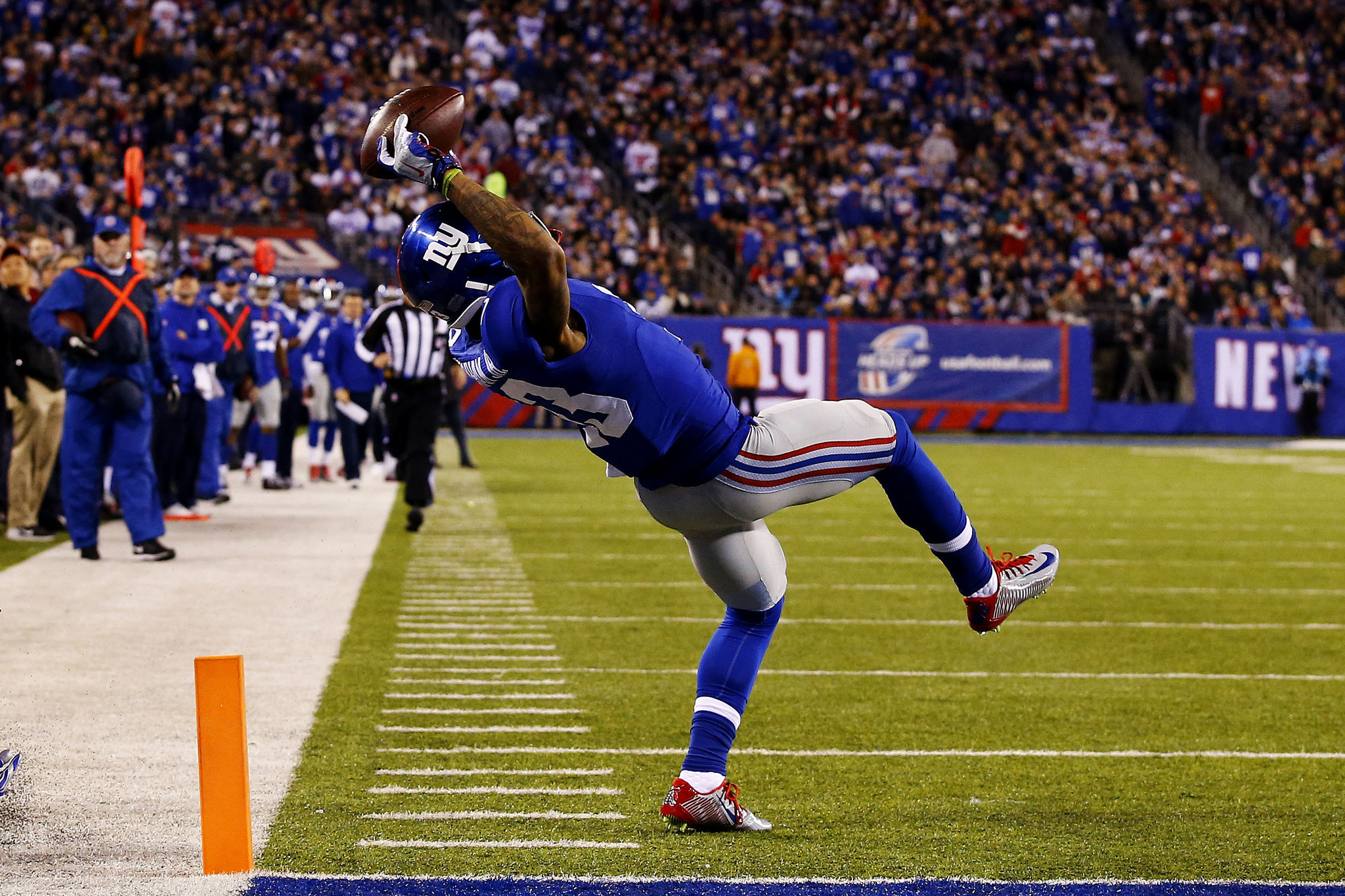Watch Odell Beckham Jr.'s amazing one-handed catch [Video ...