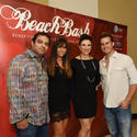 BeachBash Co-chairs: Reggie Zachariah, Brittainy Taylor, Heather Geronemous and  Blair Adams,