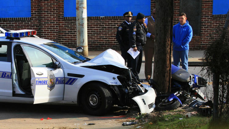 Baltimore police crash