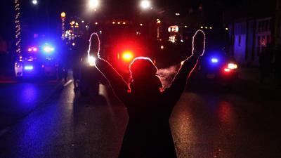 Protesting Ferguson grand jury decision