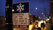 Overnight parking ban starts Monday