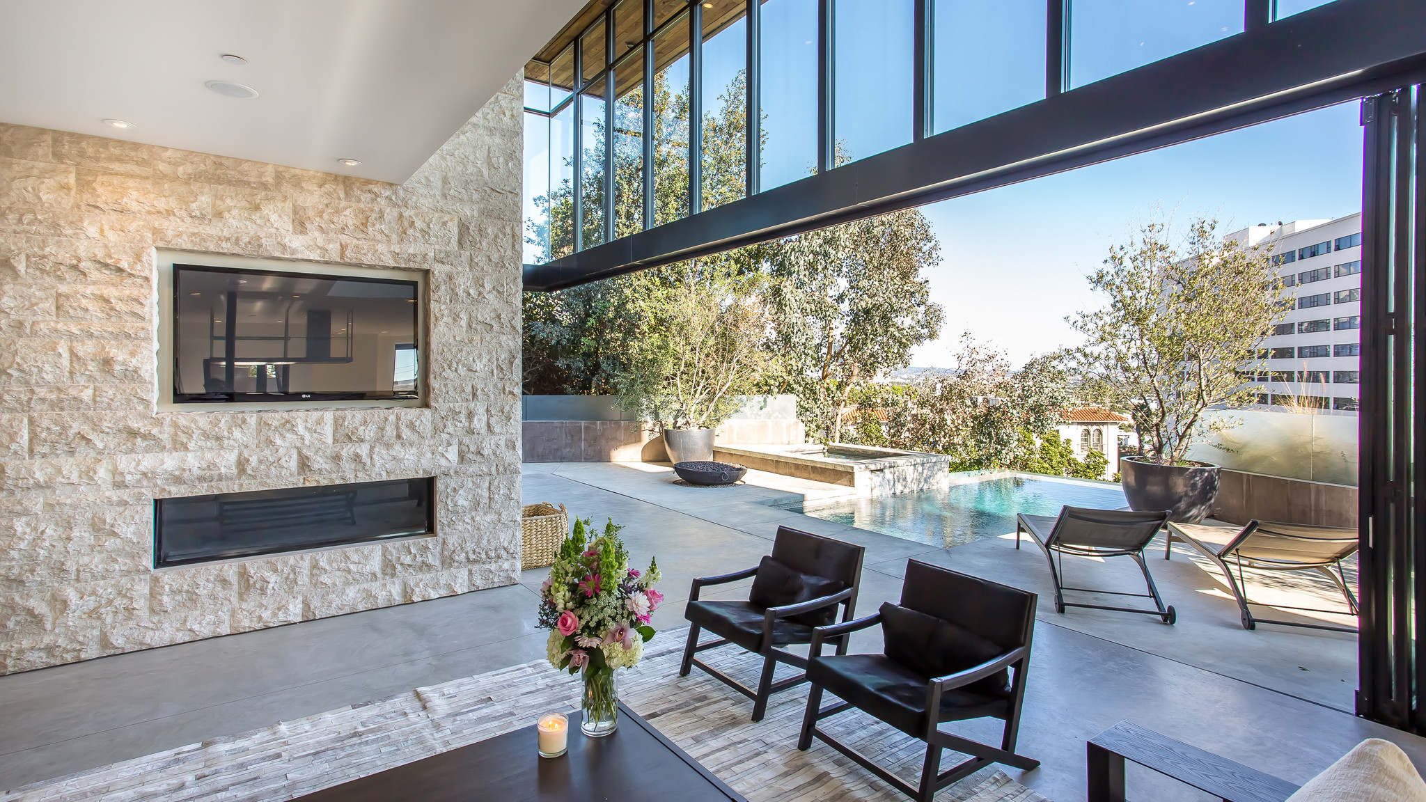 home of the day modern entertainer u0027s space in hollywood hills