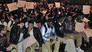 Students stage sit-in at Poly to protest the events in Ferguson