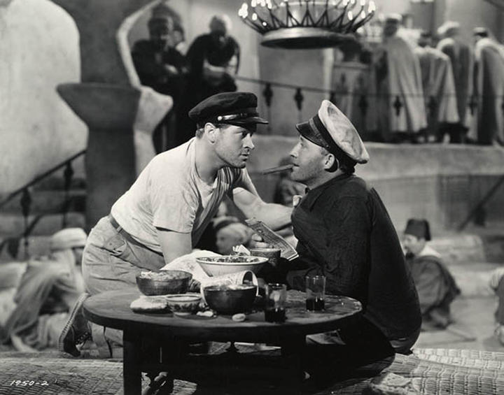 Bob Hope, left, and Bing Crosby in a scene from the 1940 Hollywood film