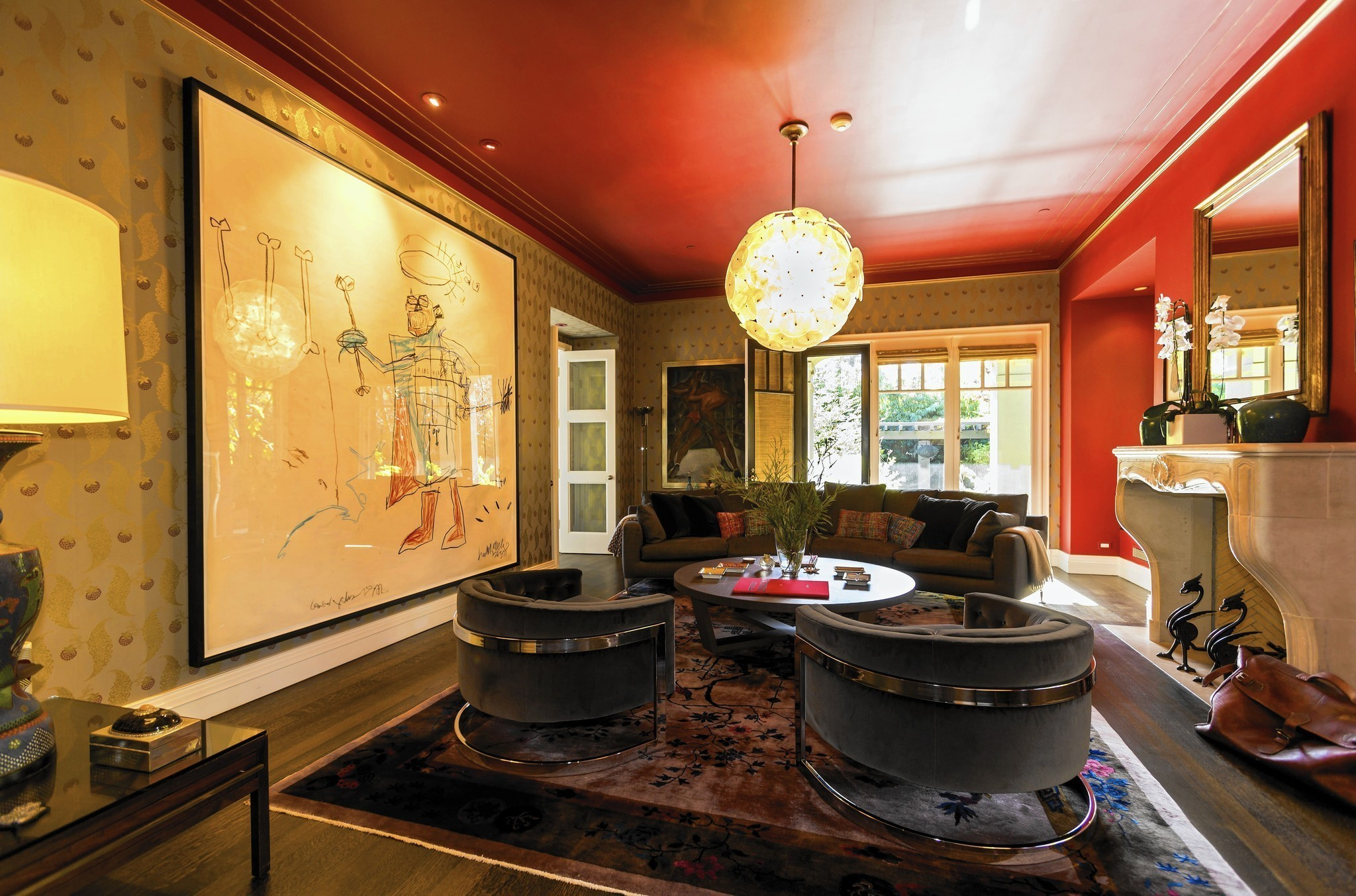 santa monica home of denim executive jerome dahan fuses style art