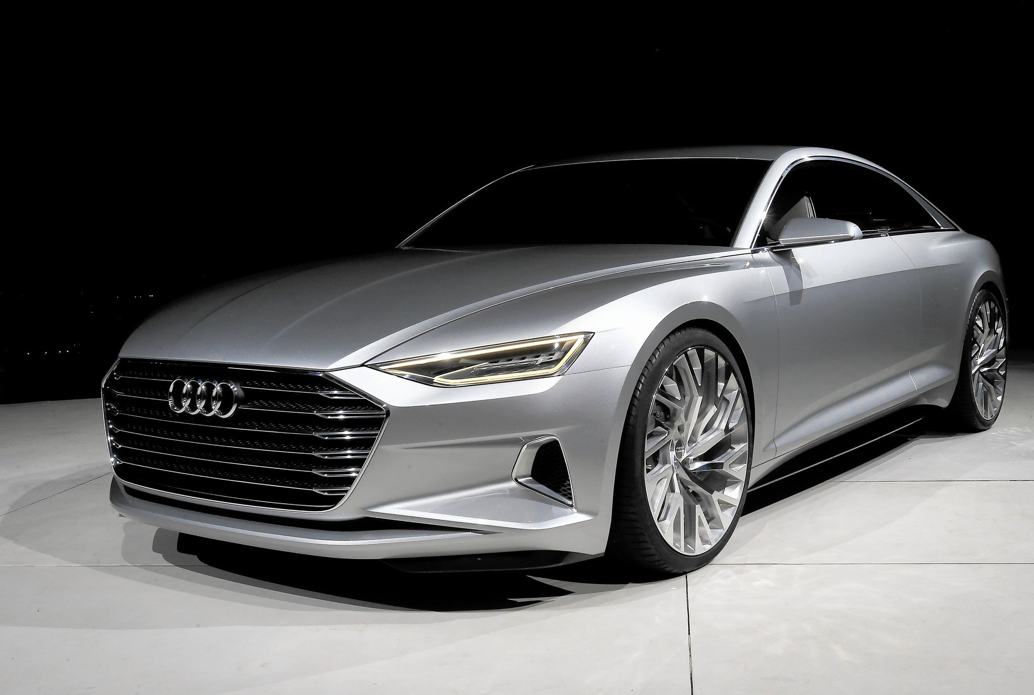 audi prologue concept car foreshadows a sultry luxurious future la times. Black Bedroom Furniture Sets. Home Design Ideas