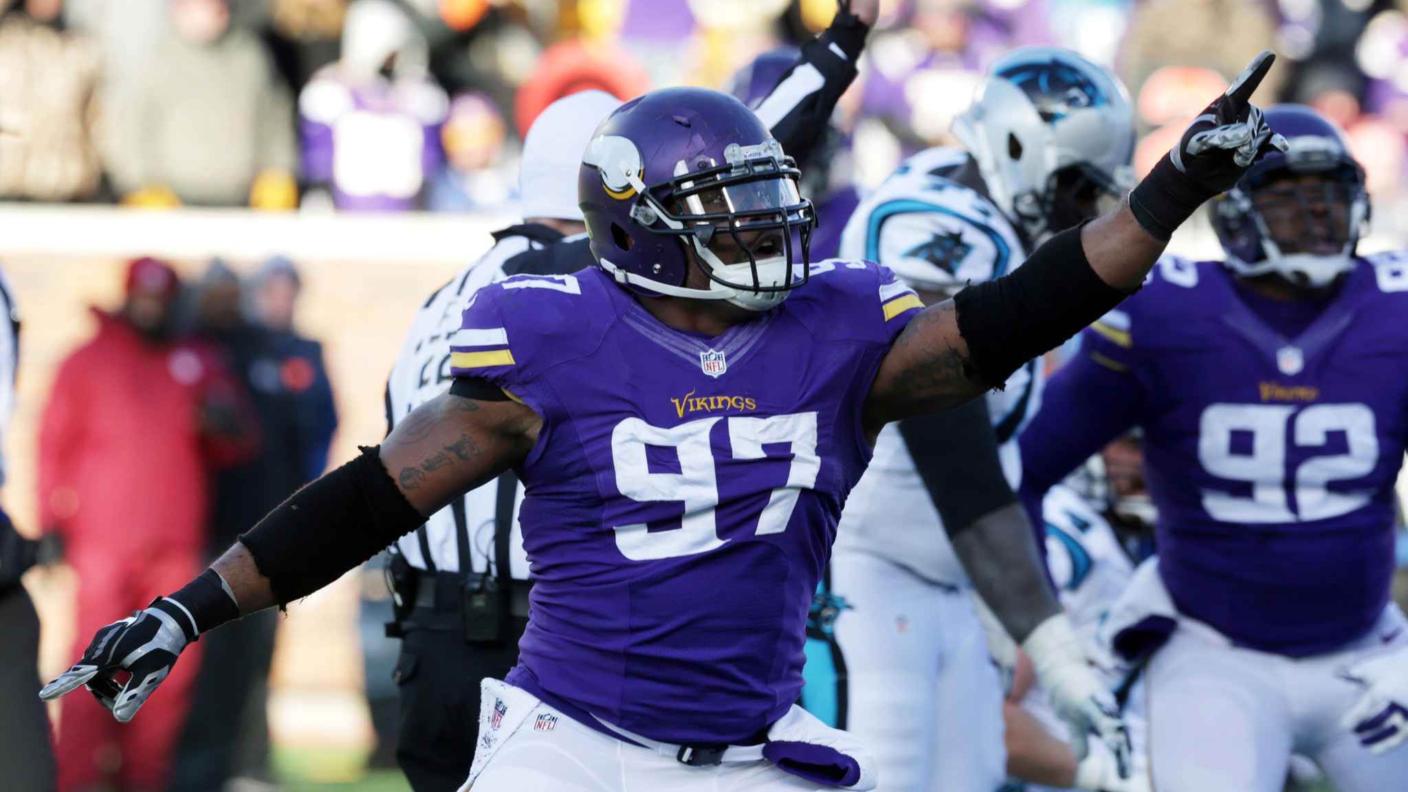 USC in the NFL Everson Griffen scores for Minnesota Vikings LA