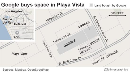 Google buys space in Playa Vista