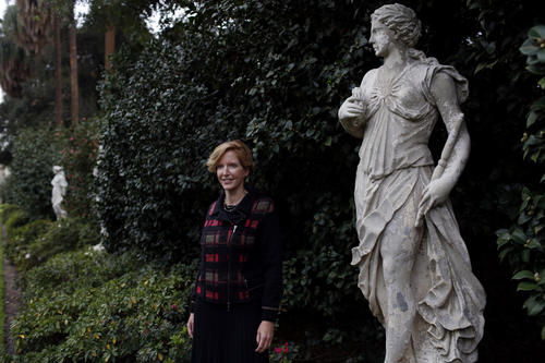 Laura Skandera Trombley at the Huntington Library in San Marino. On Dec. 2 it was announced that Trombley will succeed Steven Koblik as president of the Huntington Library, Art Collection and Botanical Gardens.