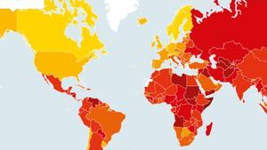 How countries rank on perceived corruption