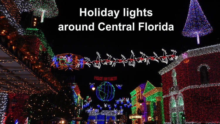 Holiday lights around Central Florida