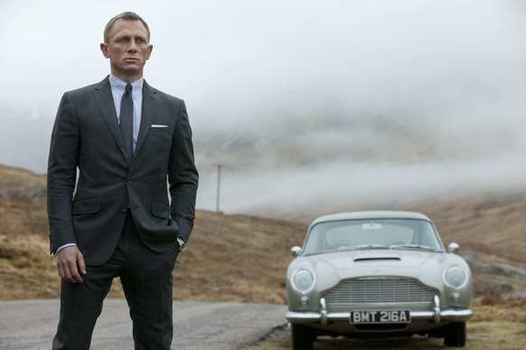 """In his new adventure """"Skyfall,"""" James Bond (Daniel Craig) drives a longtime favorite -- an Aston Martin DB5. Agent 007 and the DB5 were first seen on screen together in 1964's """"Goldfinger."""""""