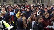 "Hundreds Participate In ""Die-In"" Protest In New Haven"
