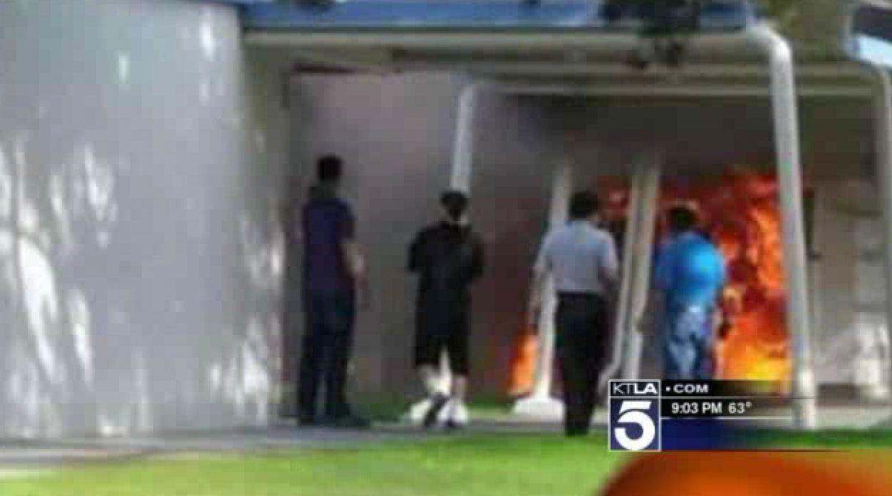 Fire Damages Bolsa Grande High School Classrooms In Garden