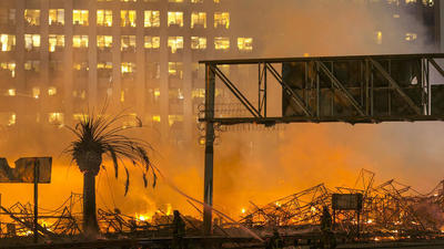 Fire in downtown L.A.