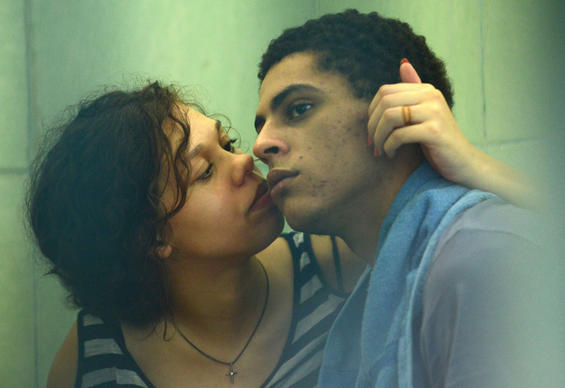 Heather Mack, left, kisses her boyfriend, Tommy Schaefer, inside a holding cell Monday at the prosecutor's office in Denpasar on Indonesia's resort island of Bali.