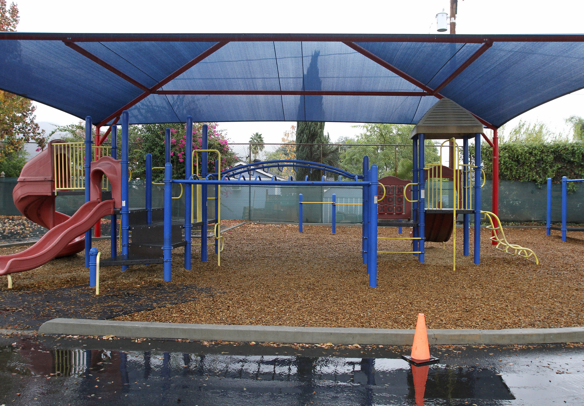 Wood chips at playground removed after they go through